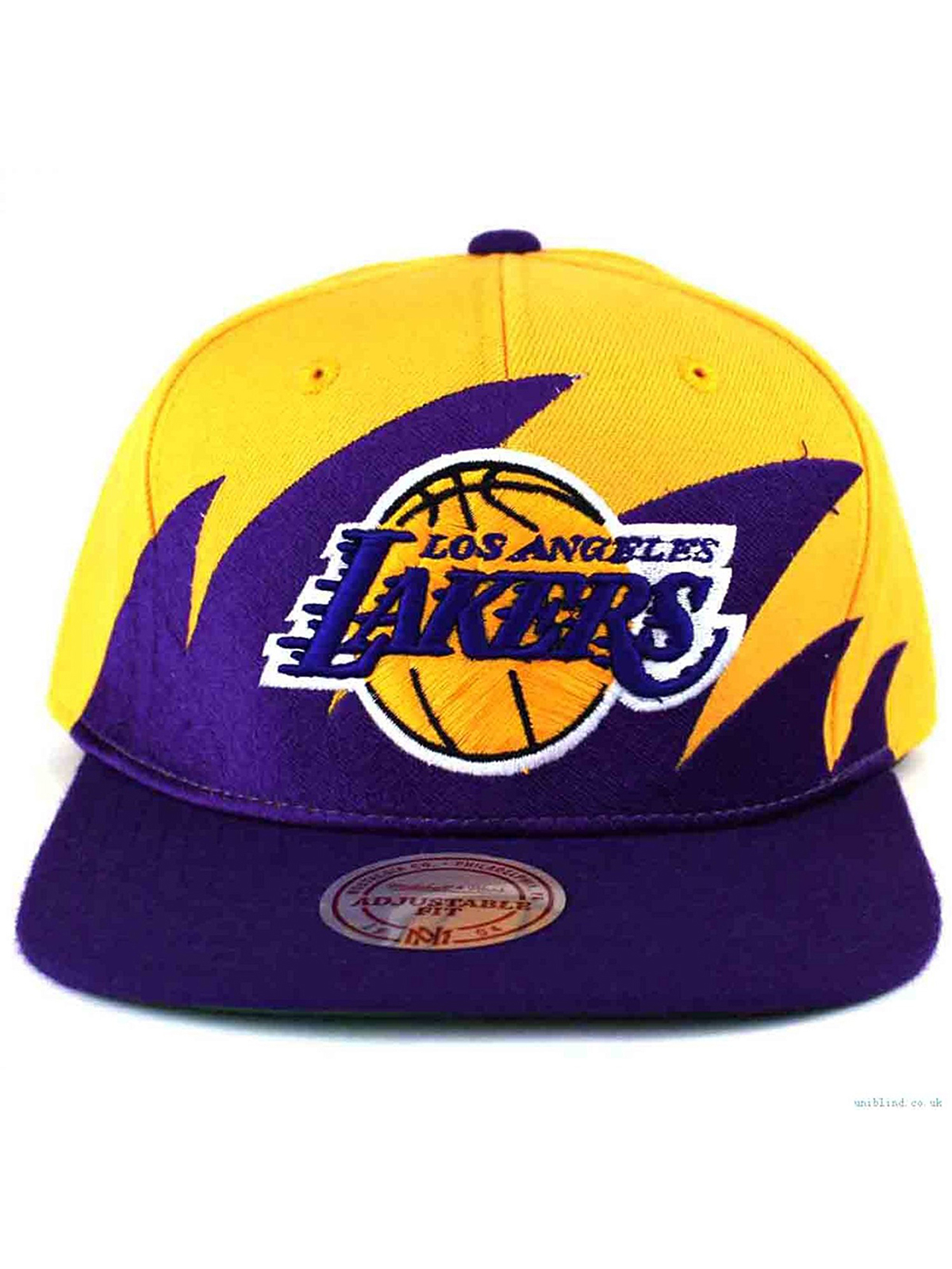 NBA Mitchell & Ness Los Angeles Lakers Purple-Gold NBA Sharktooth Snapback Adjustable...