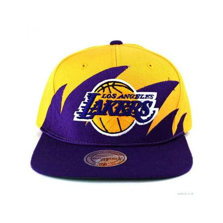 NBA Mitchell & Ness Los Angeles Lakers Purple-Gold NBA Sharktooth Snapback Adjustable Hat