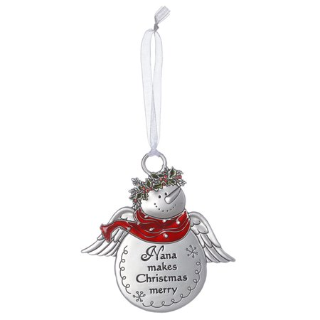 Snowman Angel Ornament: Nana Makes Christmas Merry - By Ganz](Make Your Own Christmas Ornaments)