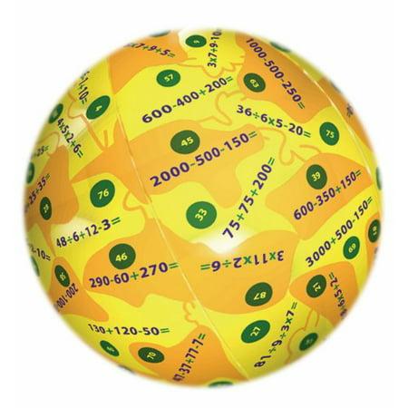 American Educational Vinyl Clever Catch Mental Math Ball, 24' Diameter - Red Ball 2 Cool Math