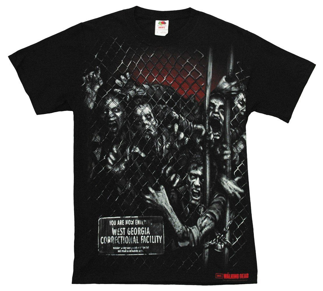 The Walking Dead Walker Fence Men's T-Shirt