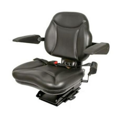 BBS108BL Big Boy Black Seat with Armrests Made for Case IH Ford John Deere  Tractors