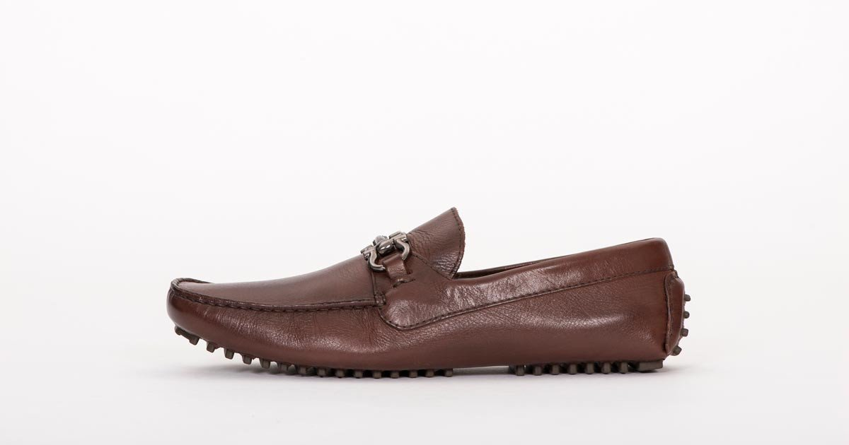 Pair Of Kings Shoes Mens Brown Leather Moccasins Dress Shoes , Mens Top  Kicker Leather Brown Formal Dress Shoes Size 11, Color Brown