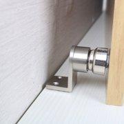 Hotel Home Restaurant Zinc Alloy Doorstops Door Stop Hardware Walls and Doors Protector Silver Tone