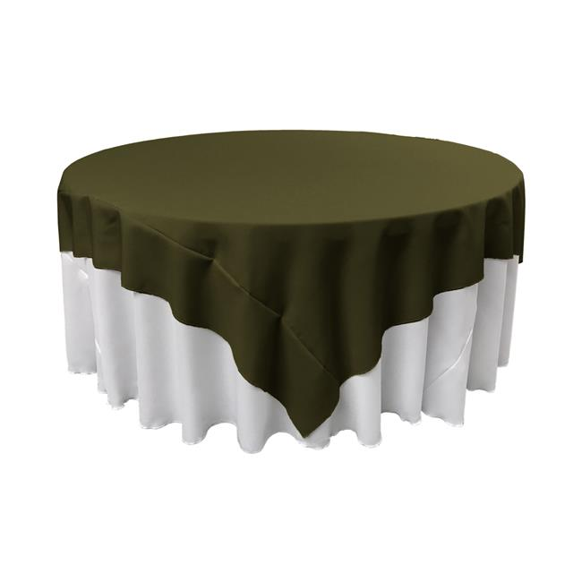 LA Linen TCpop72x72-OliveP21 Polyester Poplin Square Tablecloth, Olive 72 x 72 in. by