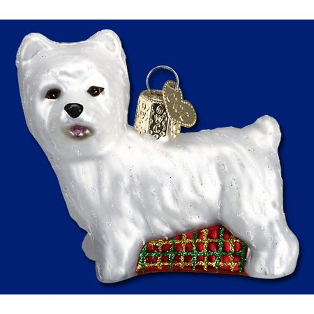 West Highland Terrier Westie Glass Old World Christmas Ornament 12251 FREE BOX ()