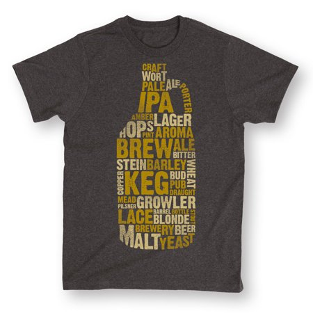 Growler With Beer Terms Keg Brew IPA Lager Brewery Cool Novelty-Men's T-Shirt
