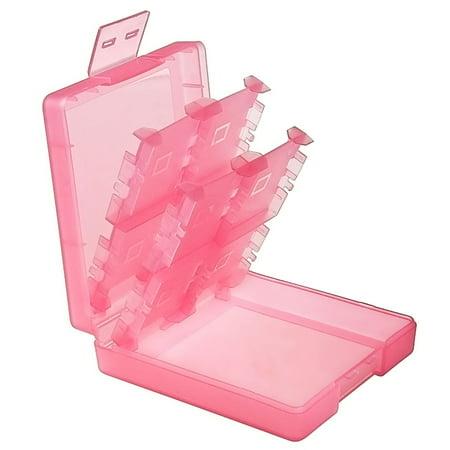 Insten For Nintendo NEW 3DS / DS / DS Lite / DSi / DSi LL / XL Game Card Case 16-in-1, Light Coral - image 2 de 10