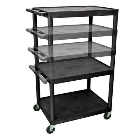 54 Inch High Av Cart - Luxor LP Carts Series AV Cart with Electric