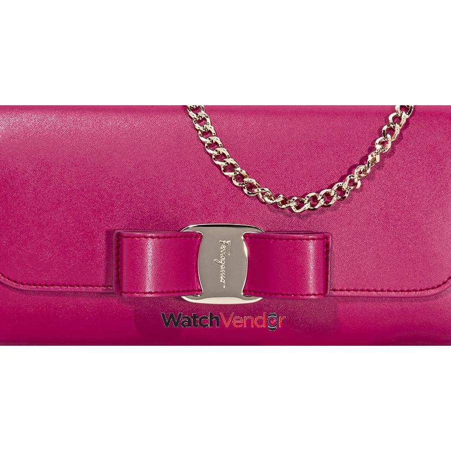 Ferragamo Vara Bow Mini Leather Bag- Begonia - image 2 de 5