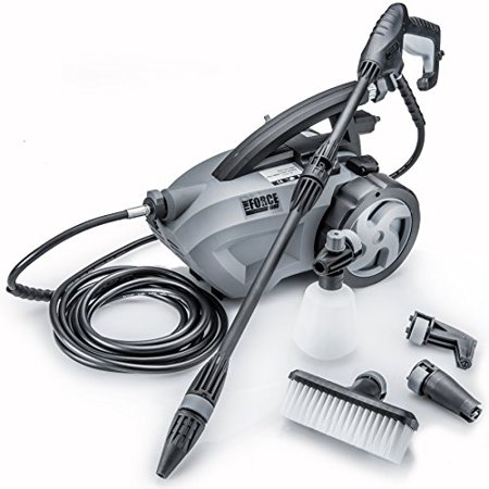 The Force 1800   Powerhouse International   Pull Behind   1 6 Gpm 1800 Psi  2600 Psi    Ipb   Electric Pressure Washer With 20 Foot Quick Connect Hose  3 Different Nozzles  Nylon Brush  Soap Dispenser