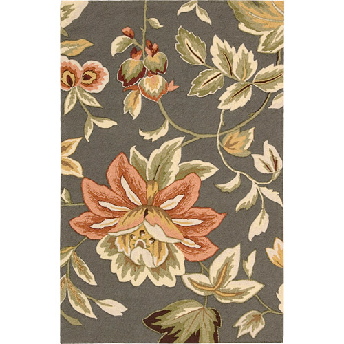 Nourison Fantasy Floral IMages French Country Area Rug by Nourison