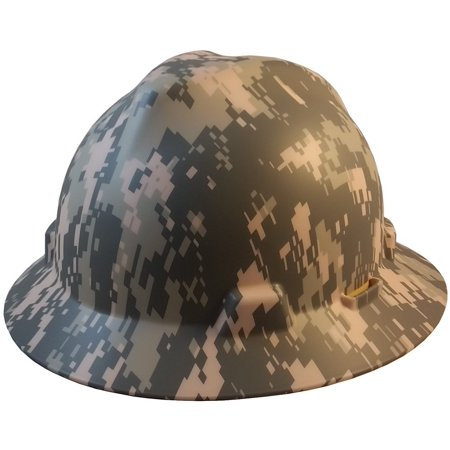 Full BrimPatriotic Hard Hat w/ ACU Camouflage Pattern - One Touch Suspension, Express your patriotism and stay safe By MSA