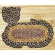 Earth Rugs 63-C099 Brown-Black-Charcoal Cat Rug