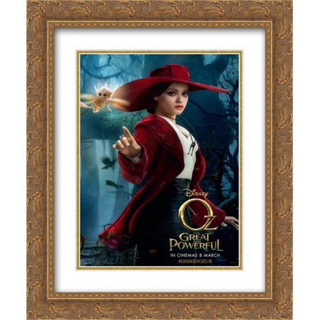 Oz The Great and Powerful 20x24 Double Matted Gold Ornate Framed Movie Poster Art