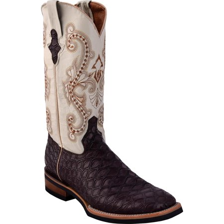 - ferrini usa mens  chocolate anteater print 13in top rubber sole cowboy boots