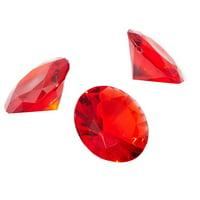 Bright Creations Acrylic Gemstone Diamonds (150 Count), Red
