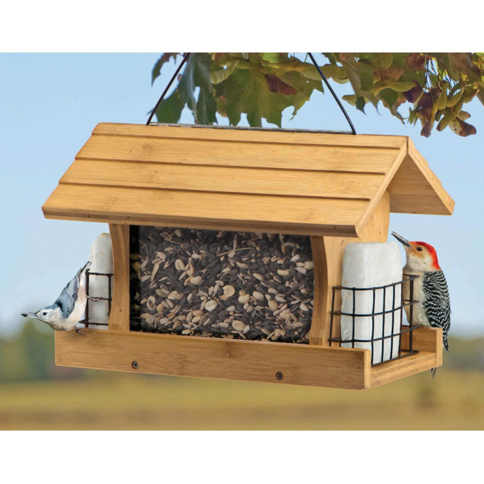 Wood Link Premium Bamboo Ranch Feeder with Suet