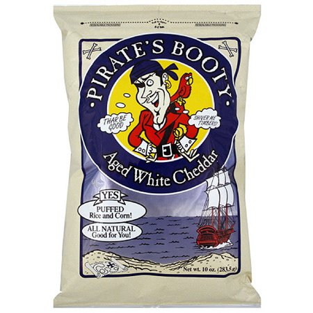 Pirate's Booty Aged White Cheddar Puffed Rice & Corn, 10 oz (Pack of (Ghetto Booty)