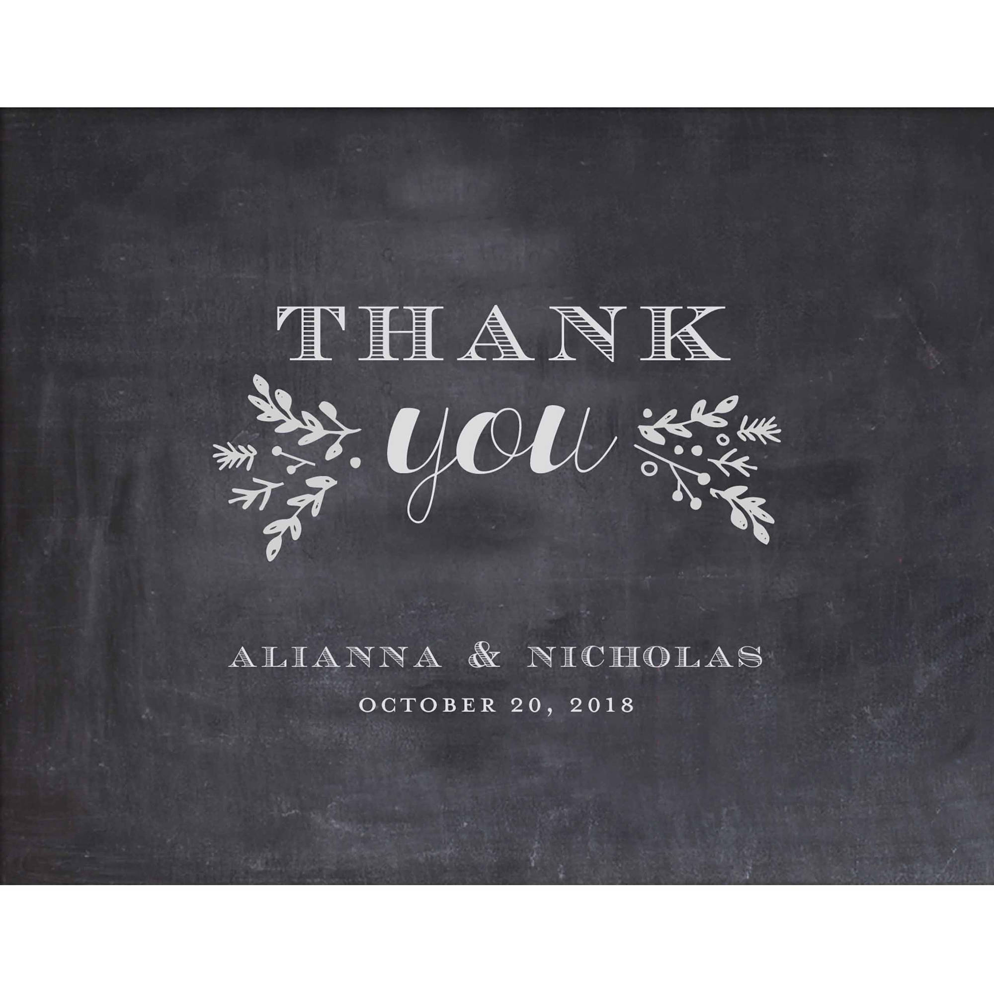 Woodland Wedding Standard Thank You