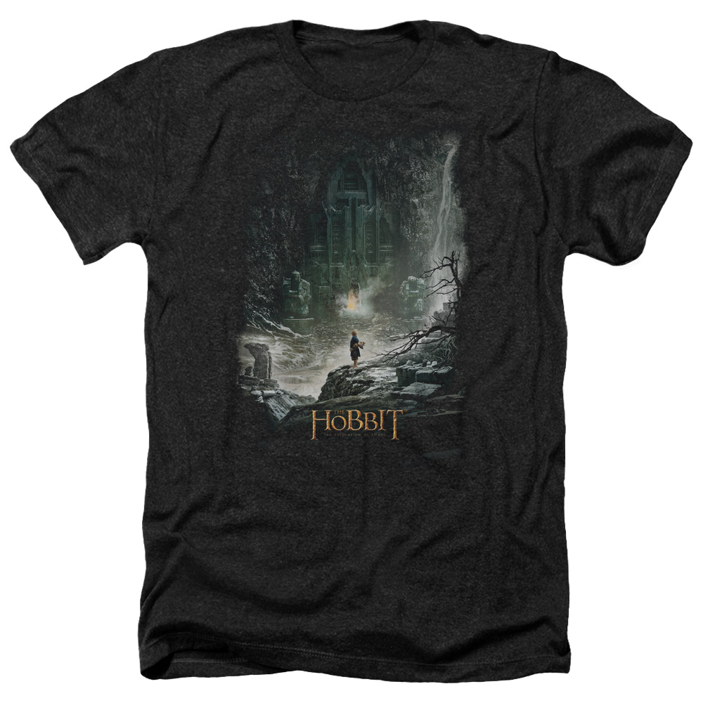 Hobbit At Smaug's Door Mens Heather Shirt