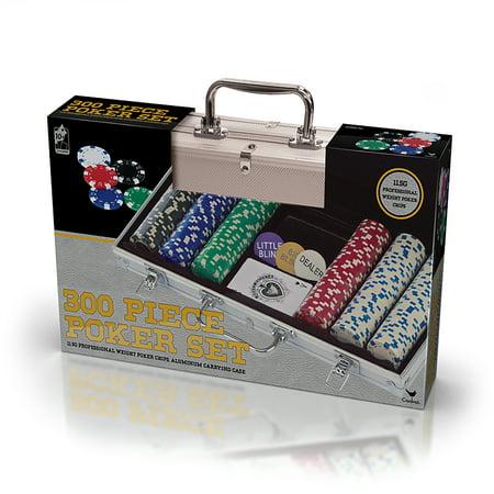 Professional 300 Piece, 11.5 gram Poker Set in Aluminum Carry Case ()