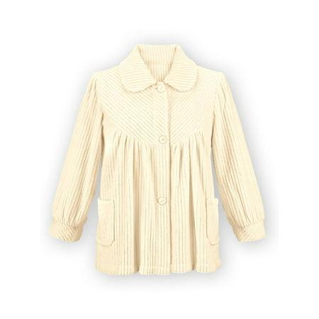 (Women's Soft Fleece Bed Jacket, Xx-Large, Ivory)
