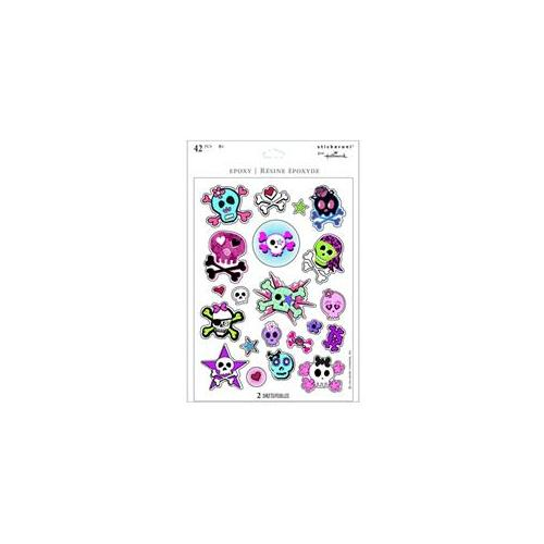 Hallmark 220917 Girl Skull and Crossbones Sparkle Sticker Sheets