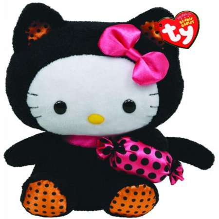 Ty Beanie Baby Hello Kitty With Cat Outfit And - Hello Kitty Beanie