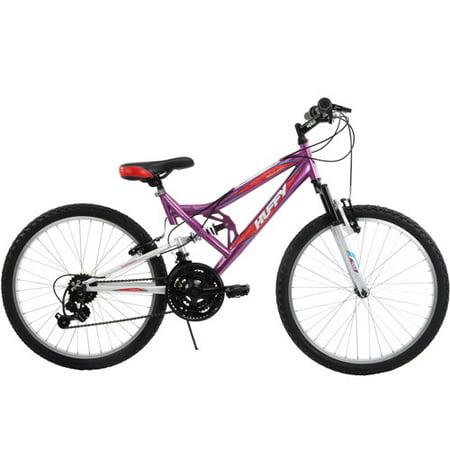 24 Inch Huffy Girls Trail Runner Mountain Bike Purple