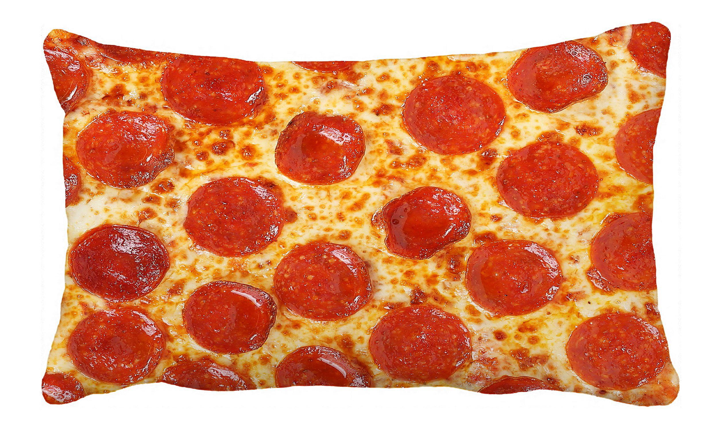 Phfzk Pizza Pillow Case Italian Classic Pepperoni Pizza Pillowcase Throw Pillow Cushion Cover Two Sides Size 20x30 Inches Walmart Com Walmart Com