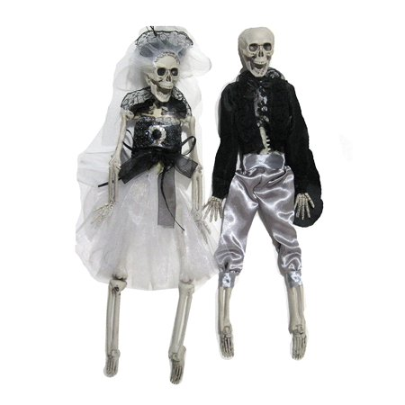 Hanging Skeleton Wedding couple Bride & Groom Halloween Party Decor 16