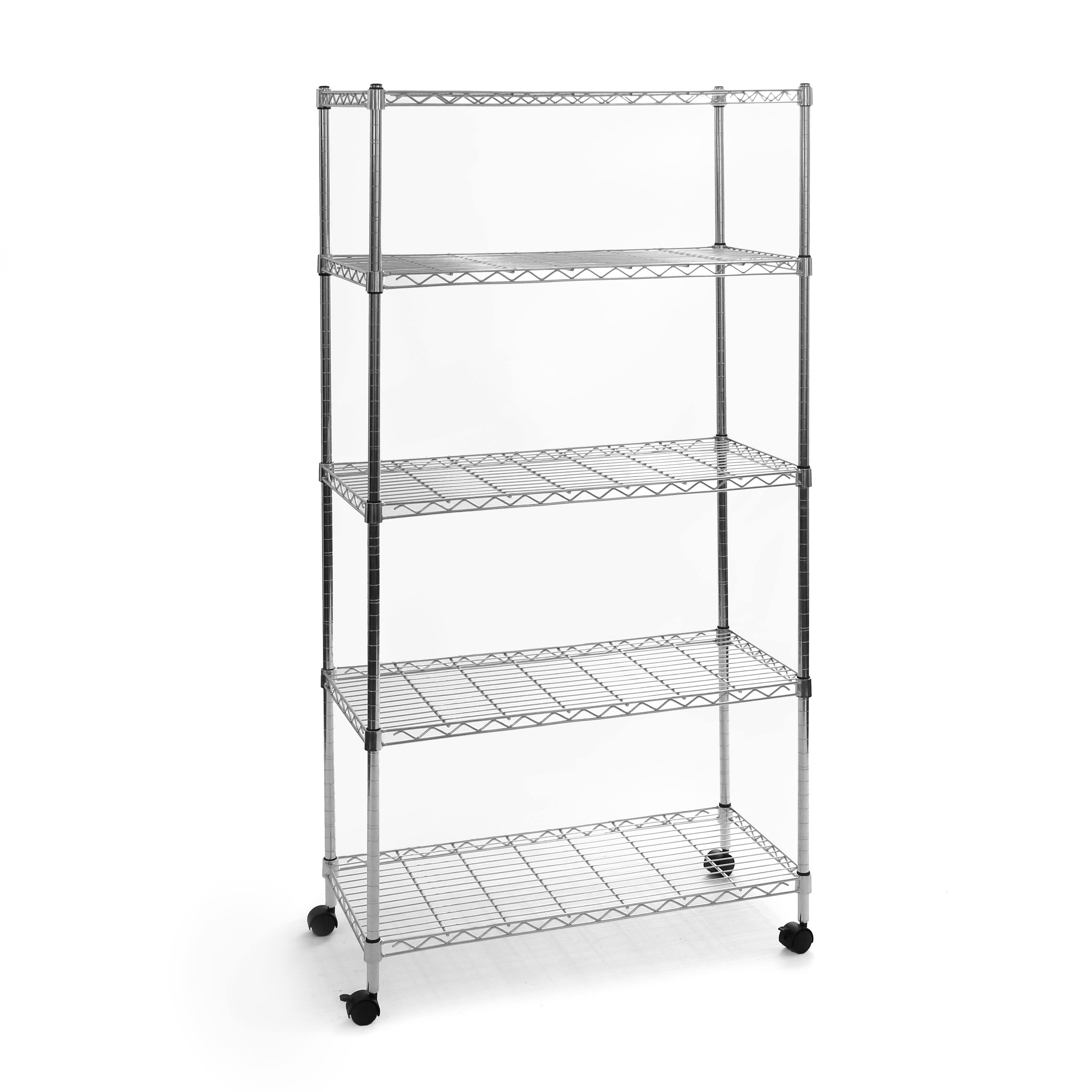 "Seville Classics 14""D x 30""W x 60""H 5-Tier Steel Wire Shelving System"