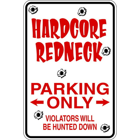 Signs Die Cut Wall Border - Hardcore - Parking Signs - Picture Art - Peel & Stick Vinyl Wall Decal Sticker Size : 9 Inches X 18 Inches