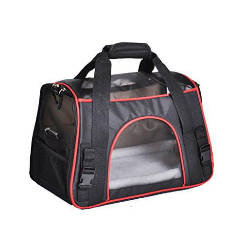 Dog Travel carrier, Enk Portable Comfort Sided Dog Travel...
