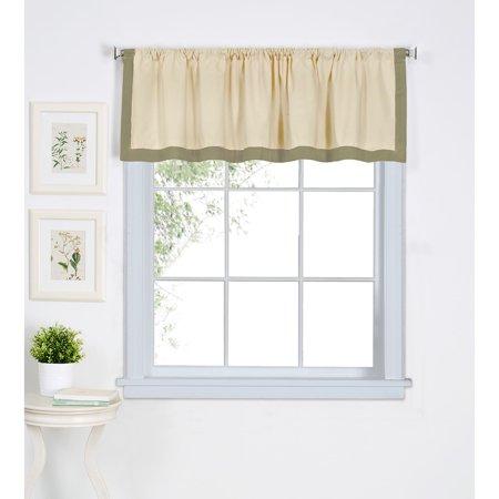 Elrene  Wilton Cotton Kitchen Window Valance - 60