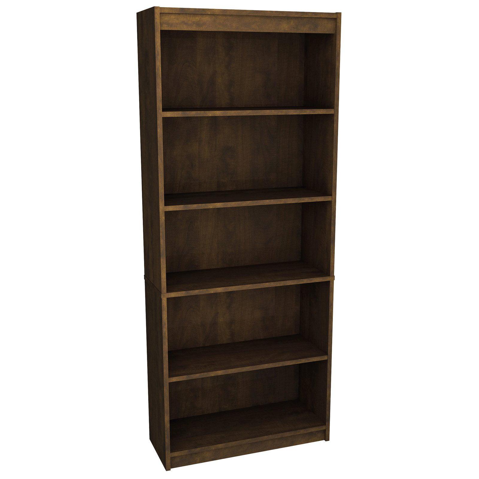 Bestar prestige modular 5 shelf bookcase for Types of bookshelves