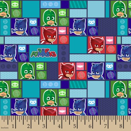 Decorator Fabric By Color - PJ Masks Grid Fabric by the Yard