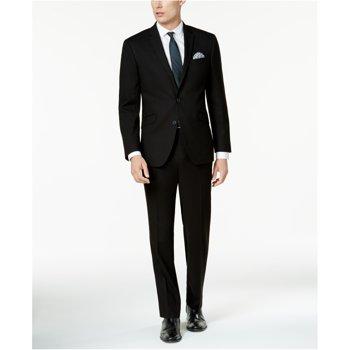 Kenneth Cole Reaction Techni-Cole Black Slim Fit Suit