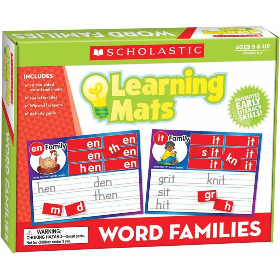 Scholastic Word Family Words Mats