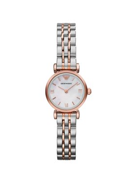 Emporio Armani Women's Two-Tone Mother of Pearl Bracelet Watch AR1764