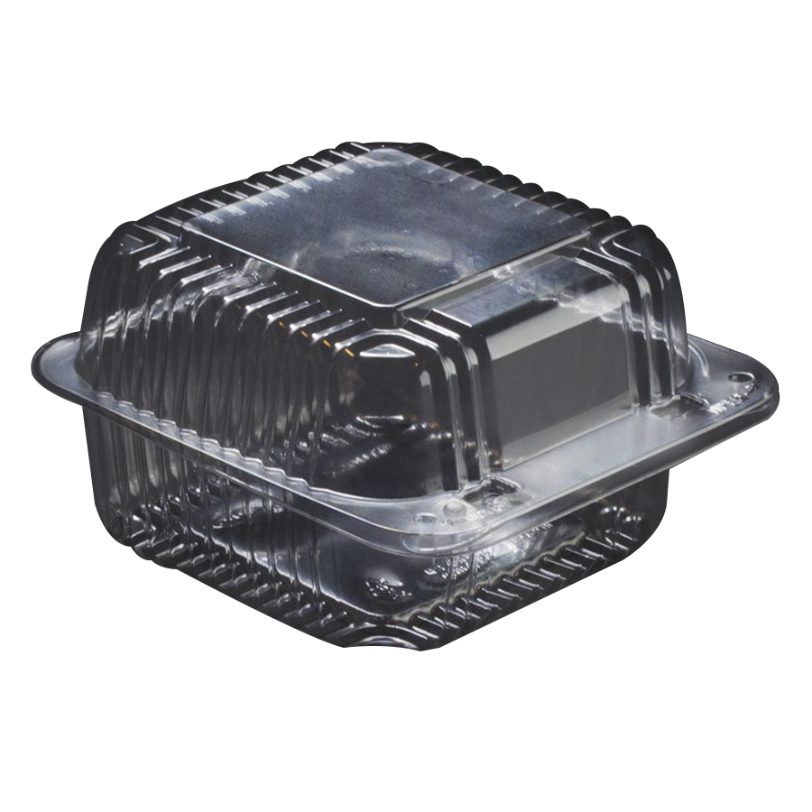 Dart StayLock OPS Plastic Square Food Container Clear, 5....