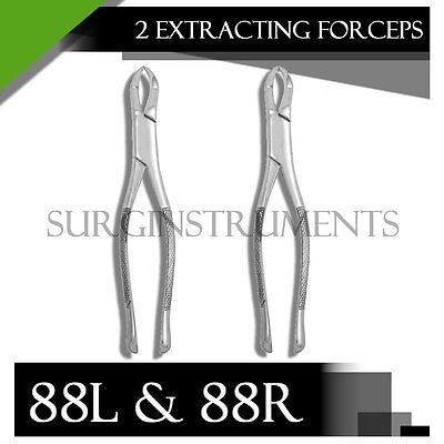 10 Extracting Forceps Dental Surgical Instruments 88R & 88L