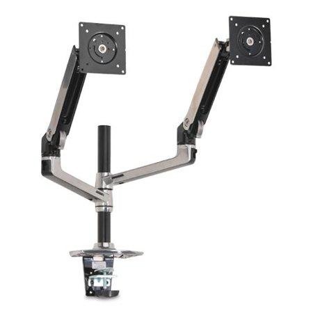 ergotron 45 248 026 lx dual stacking arm desk mount extends lcds