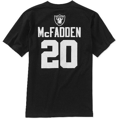 NFL Boys' Oakland Raiders Darren Mcfadden Short Sleeve Player Tee