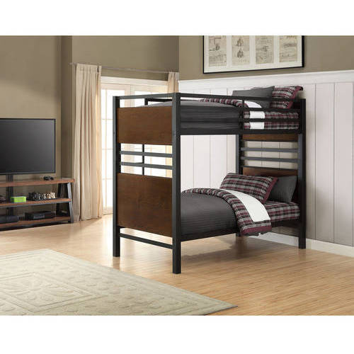 Better Homes And Gardens Mercer Twin Over Twin Metal Bunk Bed, Decorative  Faux Wood Finish   Walmart.com