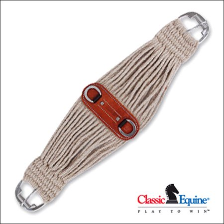 Cinch Natural - 26 INCH CLASSIC EQUINE COLT CINCH GIRTH HORSE NATURAL MOHAIR ROLLER BUCKLE HORSE