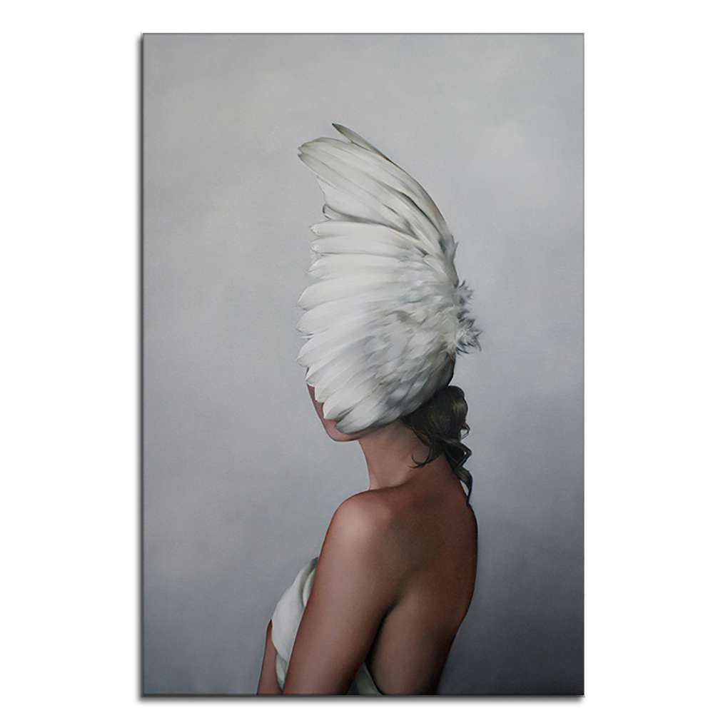 Babydream1 Woman Body Oil Poster Body Art Wall Picture Paintings Frameless Canvas Feather Oil Drawing Walmart Canada