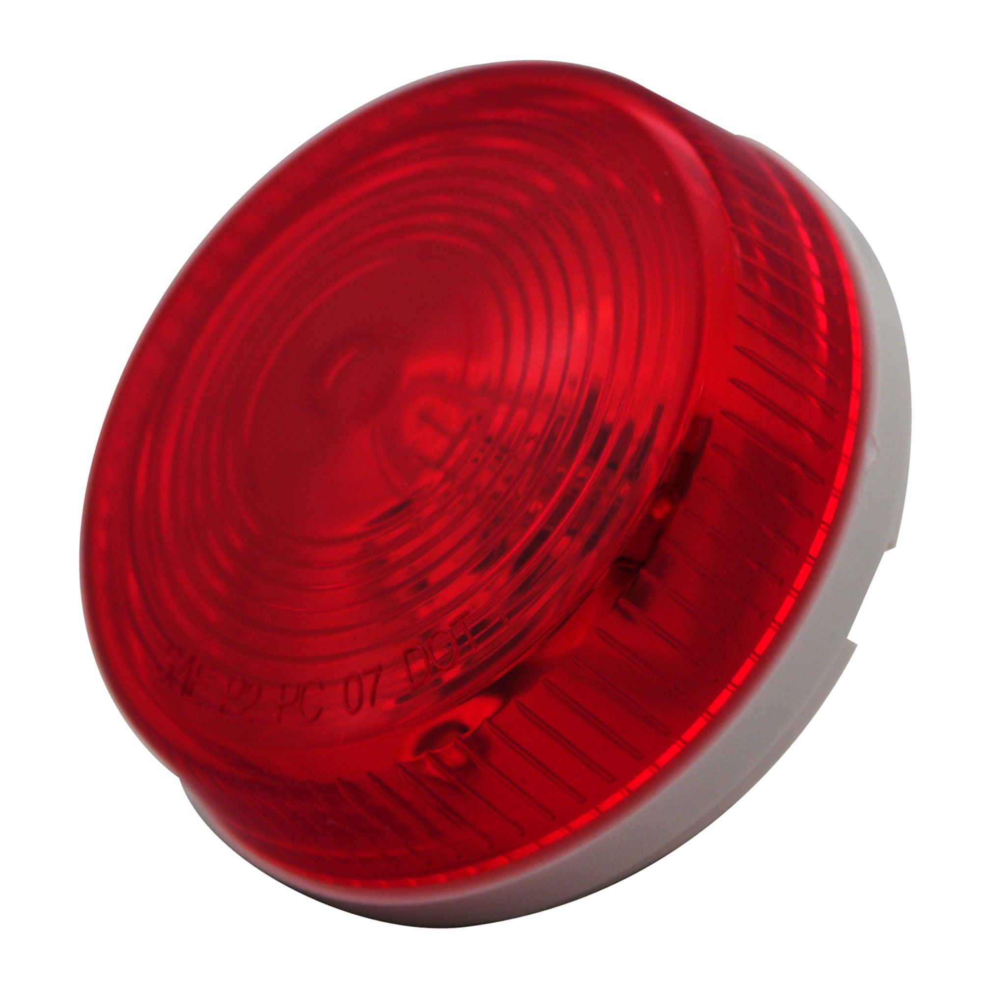 Pilot Automotive NV-5073R 12 Volt 2.5 inch Round Clearance Light-Red Size: 2-1/2 x 1-1/16