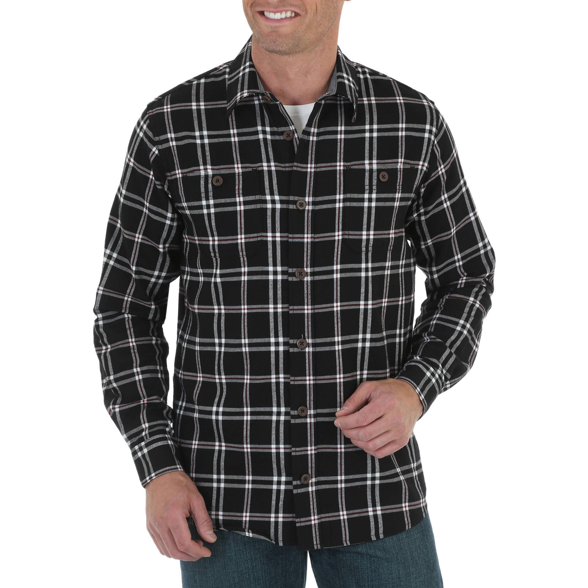 Wrangler Big Men's Long Sleeve Flannel